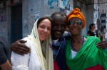 At the set in Djibouti