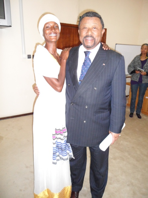 Waris und der Vorsitzende der Afrikanischen Union, Jean Ping / Waris with the Chairman of the African Unionm, Jean Ping