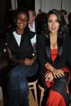 Waris Dirie and Salma Hayek at the YSL Show